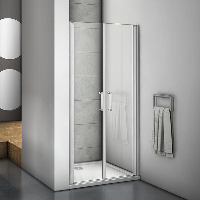 Duschtür Pendeltür Nischentür Duschabtrennung Schwingtür Glas Dusche  70x185cm