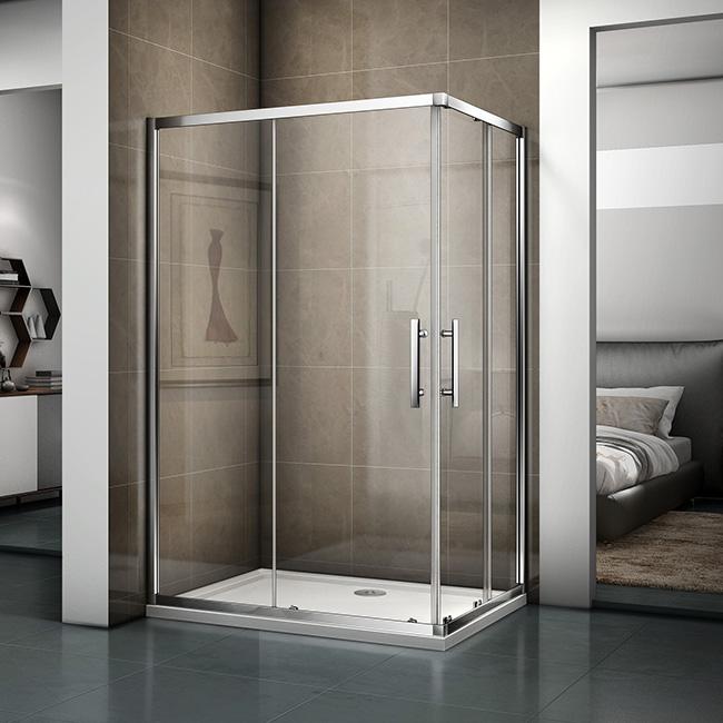 120x90cm Duschkabine Schiebetür Duschtür Glas Duschabtrennung Dusche Duschwand