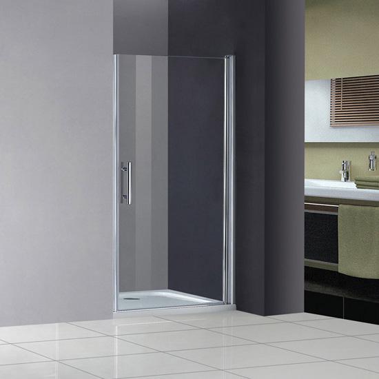 Dusche Nischent?r Rahmenlos : Duschabtrennung Nischent?r Dusche Schwingt?r 80x185cm + Duschtasse