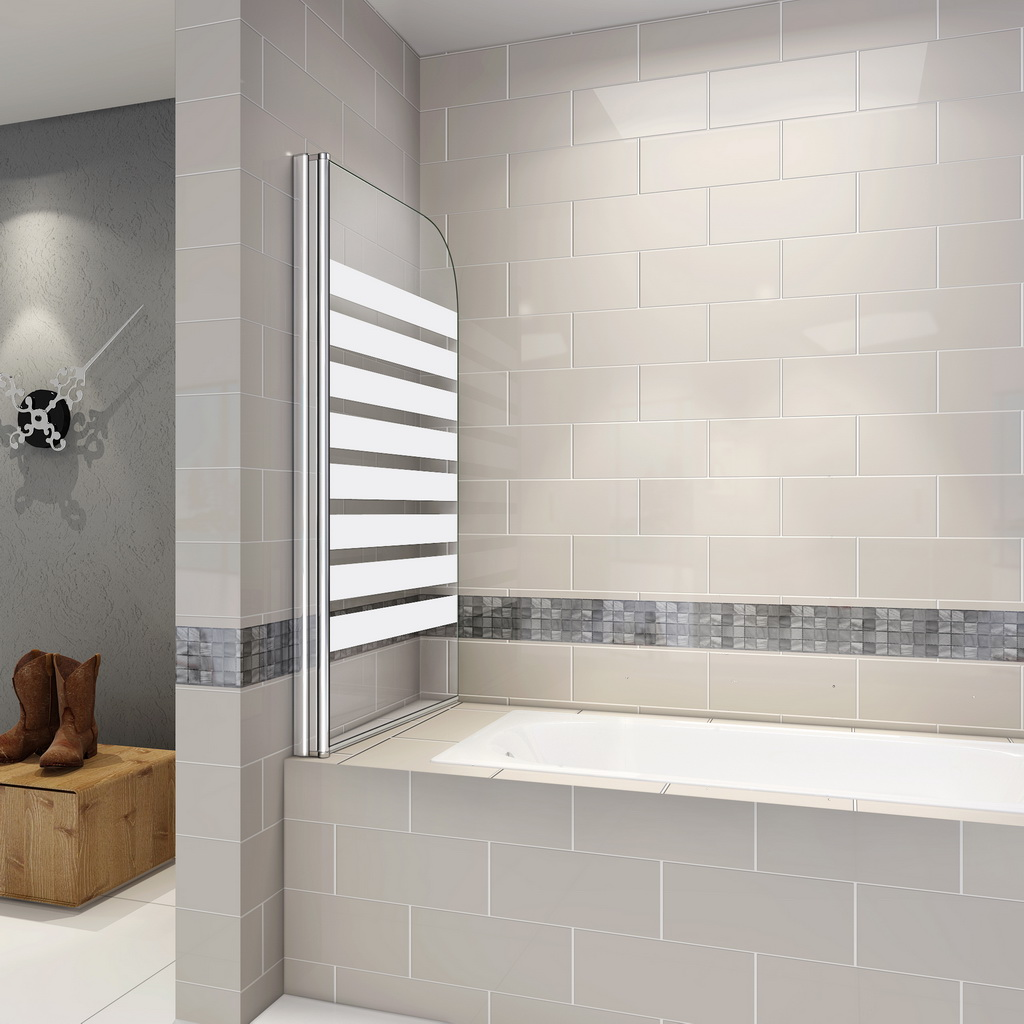 badewanne duschwand 180 trennwand duschabtrennung 80x140cm nano glas b1e s l 103 99 ozean. Black Bedroom Furniture Sets. Home Design Ideas