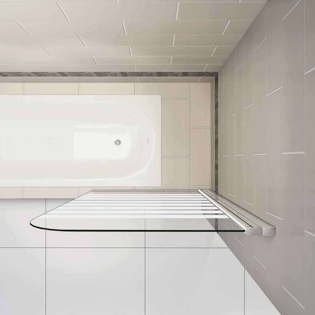 badewanne duschwand 180 trennwand duschabtrennung 80x140cm nano glas b1e s r 94 99 ozean. Black Bedroom Furniture Sets. Home Design Ideas