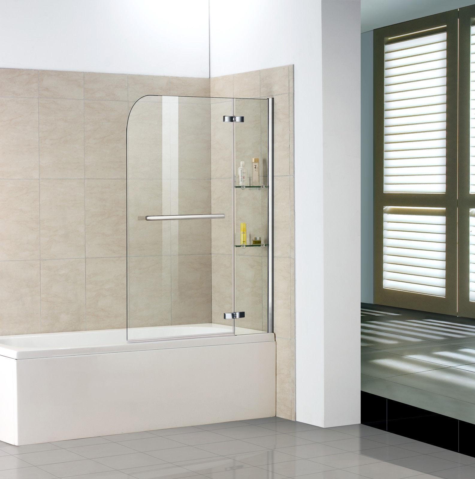 Badewanne 2 tlg. Faltwand Duschwand Drehen 90 Grad duschabtrennung ...