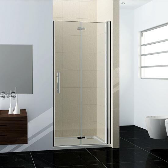 Dusche Nischent?r Rahmenlos : 100cm Duschabtrennung Nischent?r Dusche Schwingt?r Ohne Duschtasse