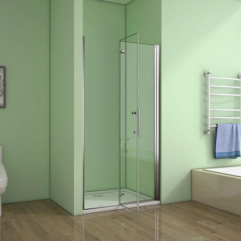 Nischentür Duschkabine Schwingtür Rahmenlos 90cm  Dusche  ESG Glas Duschwand