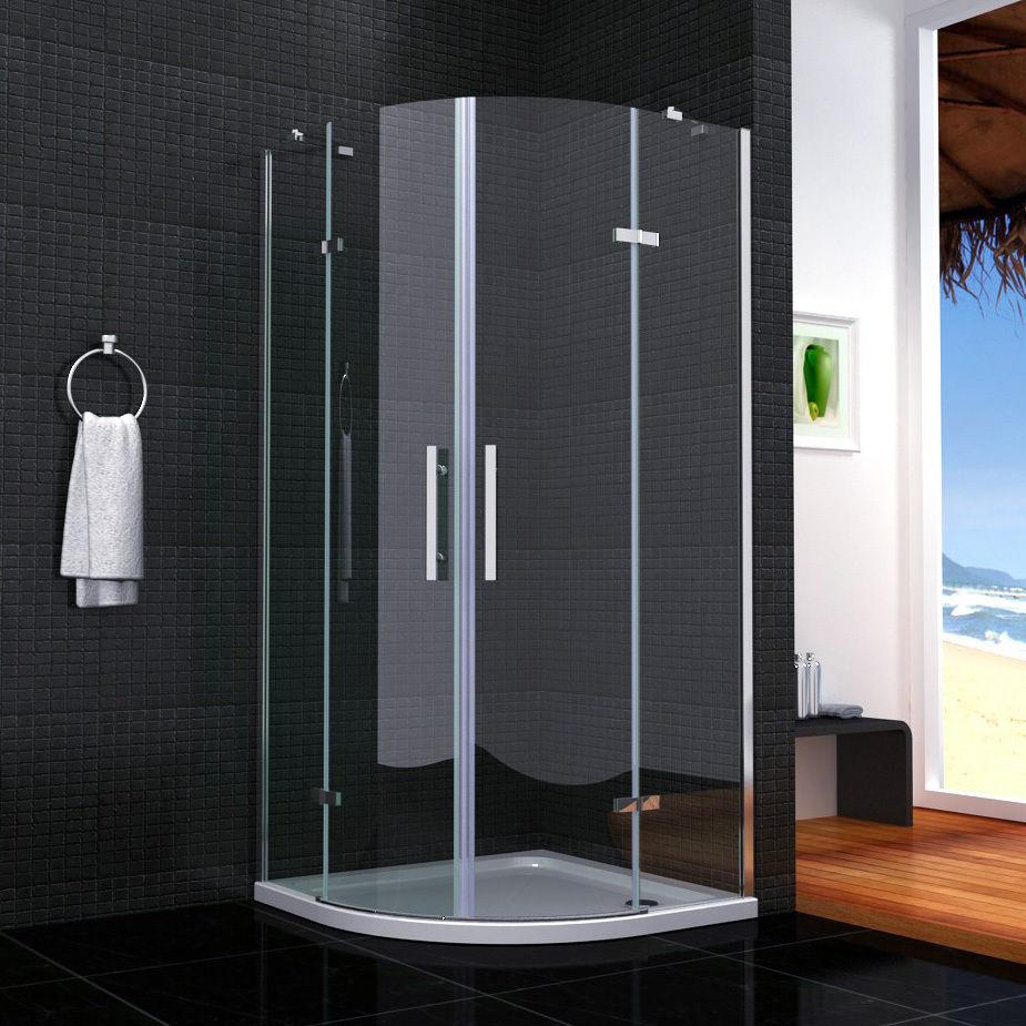 Duschkabine Doppel Drehtür Duschtür 90x90x195 Nano Ohne Duschtasse