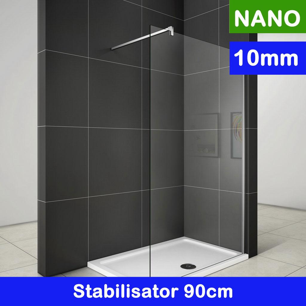 Walk in Duschkabine Duschabtrennung 110x200cm 10mm NANO Glas [W11E-1 ...