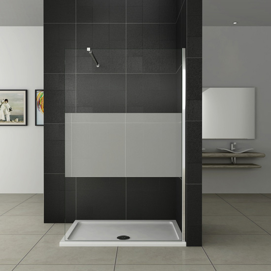 duschabtrennung duschwand seitenwand walk in dusche glaswand 70 76 80 90 cm wasxx 121 99. Black Bedroom Furniture Sets. Home Design Ideas