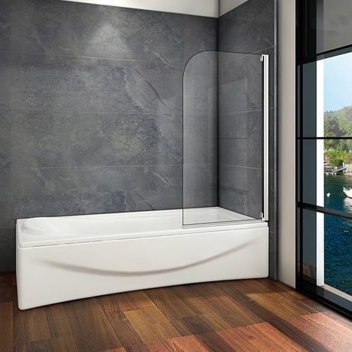 Badewanne Mit Duschwand.Badewanne Duschwand Drehen Trennwand Duschabtrennung 80x140cm 800z1