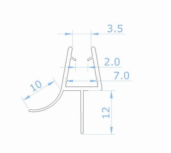 dichtung dichtteil unten f r duschabtrennung duschkabine dusche glas b6 12 12 99 ozean. Black Bedroom Furniture Sets. Home Design Ideas