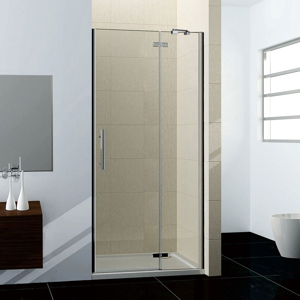 76x195cm duschkabine duschabtrennung scharniert r nano glas ohne duschtasse hn76 2e v2 1b v2. Black Bedroom Furniture Sets. Home Design Ideas