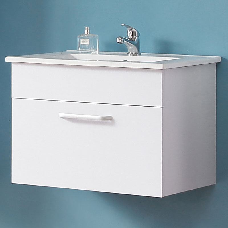 Badmöbel Set 60cm Waschtisch mit Unterschrank Badezimmer Möbel Set  Hängeschrank Weiß