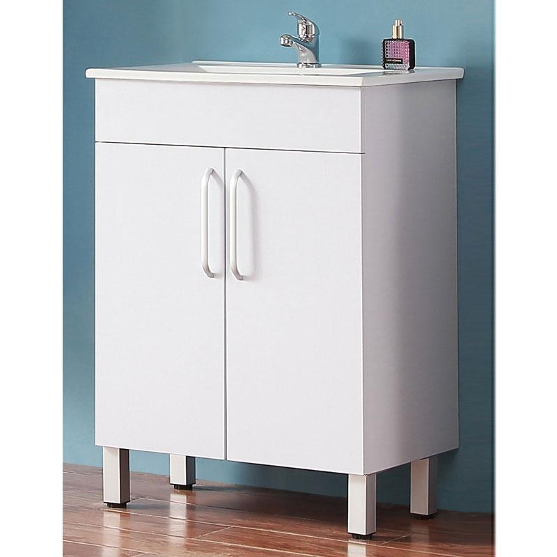 Badmöbel Set 60cm Waschtisch mit Unterschrank Badezimmer Möbel Set  Hängeschrank Weiß Standschrank