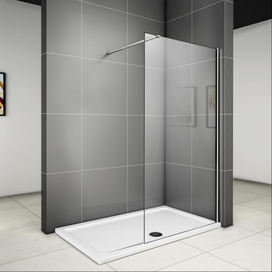 Duschabtrennung Duschwand Seitenwand Walk in 60x200cm 8 mm NANO Glas ...