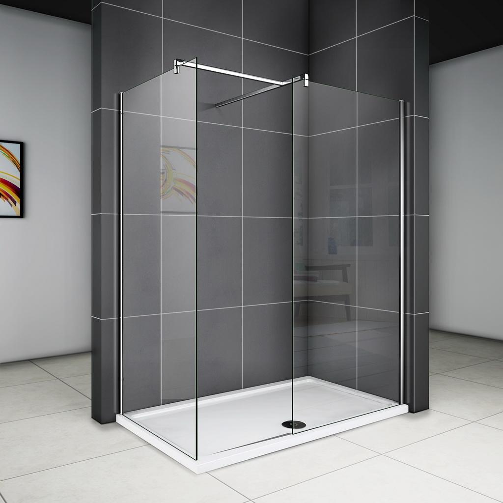 120x200cm Glaswand Duschkabine Duschabtrennung + Seitenwand ...