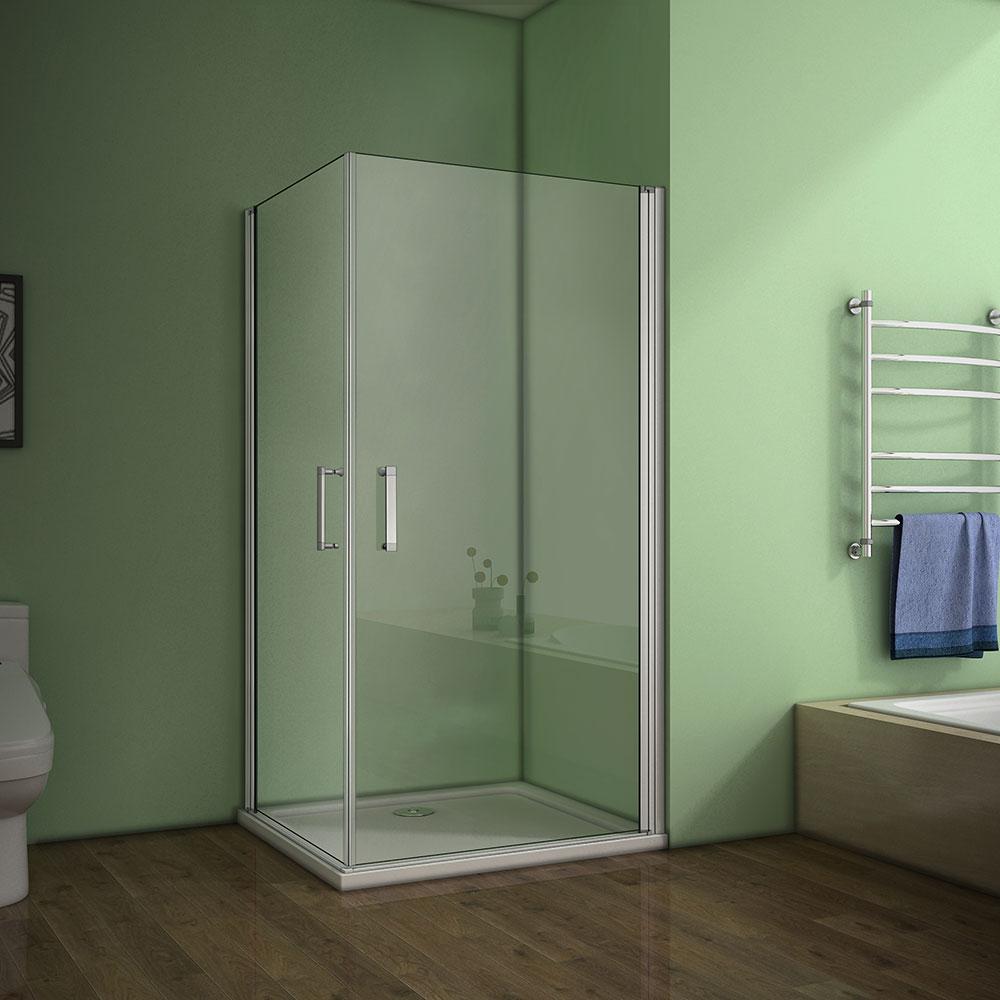 Duschkabine Falttür Duschabtrennung Duschtür Glaswand Dusche 6mm ESG Glas 185cm