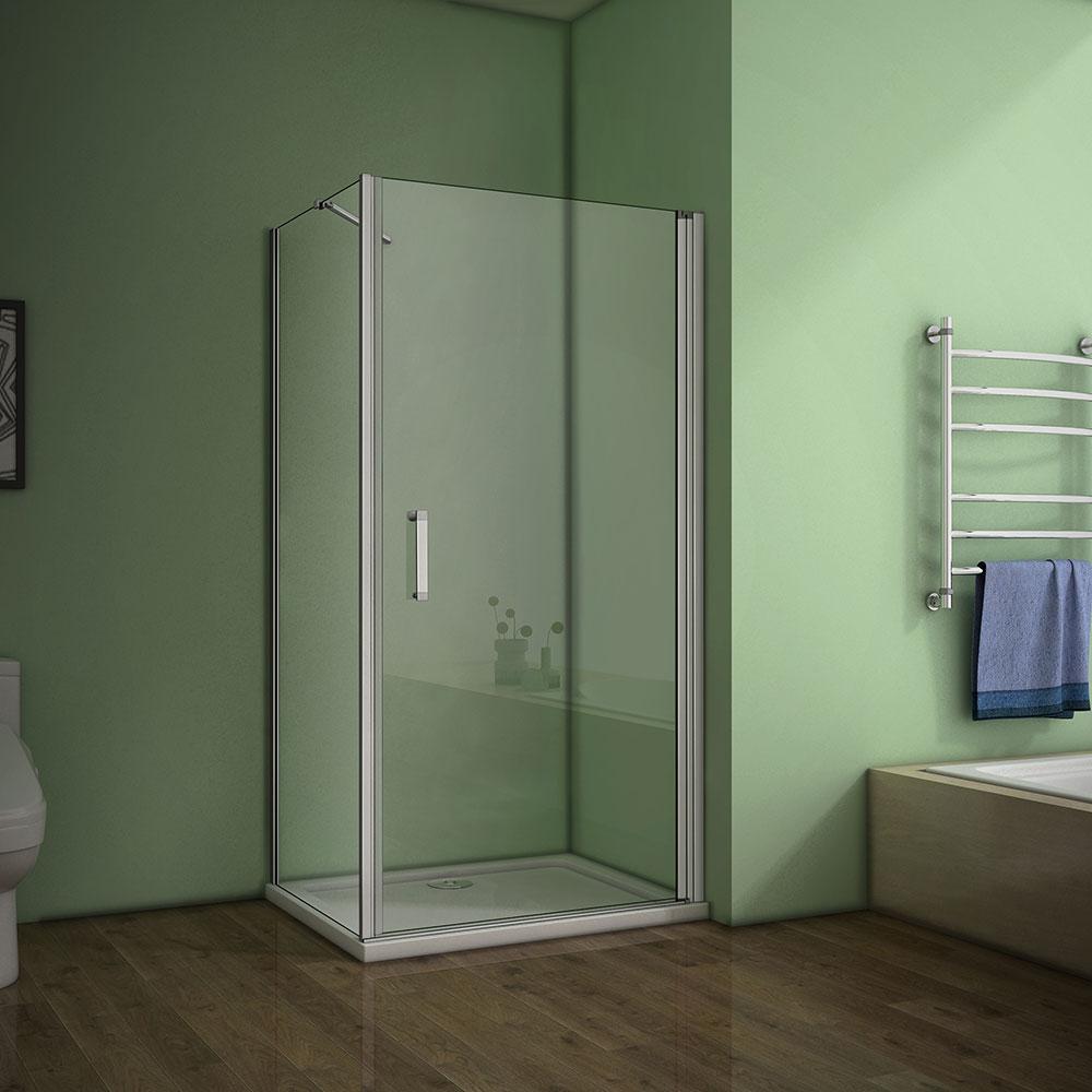 Duschkabine Schwingtür Drehtür Duschabtrennung,70-100cm drehbare  duschtür,70-90cm duschwand